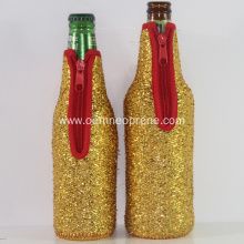 Different Size Golden Waterproof Neoprene Bottle Coolers